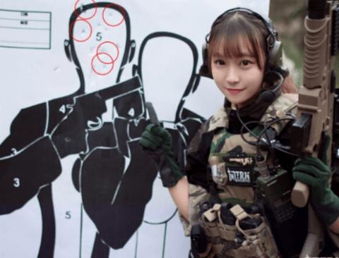 사격훈련을 마친 중국 처자들(막짤주의)