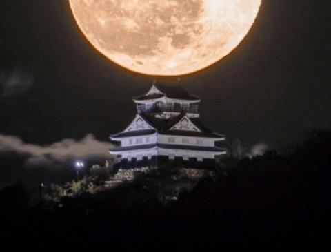 일본에서 찍은 보름달.jpg