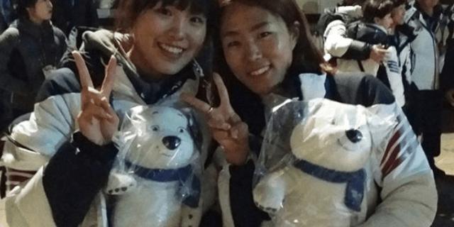 4년 전에 이어 평창에서도 생일 챙겨, 우정을 과시한 김아랑 이상화