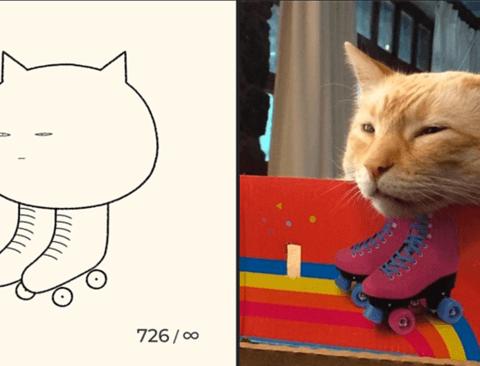 기묘한 고양이 그림작가