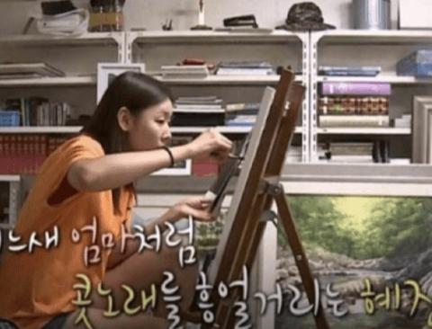 어머니 취미따라 이덕화를 그려본 한혜진 (feat. 전현무)