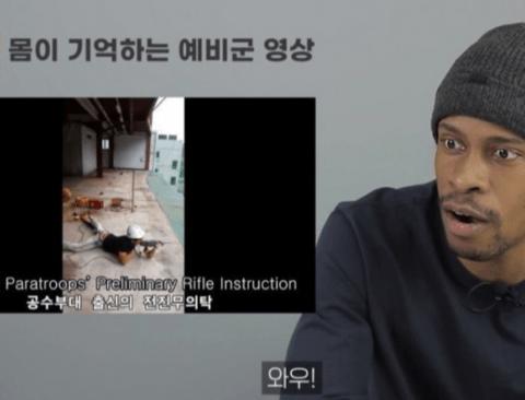 한국 예비군을 본 미 해병대 출신의 반응