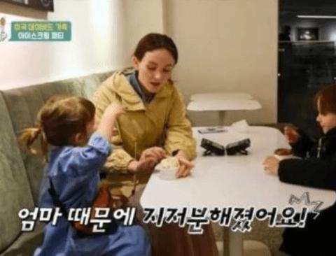 외국인 엄마가 칭얼거리는 딸 훈육하는 법