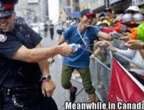 어느 나라보다 투철한 캐나다 시민의식 (반전주의)