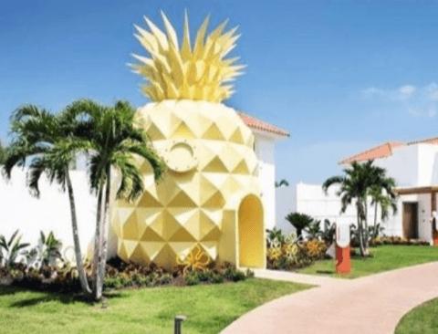도미니카 공화국에 있는 스폰지밥 집 실사판