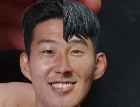 손흥민 피규어헤드 만든 디씨인