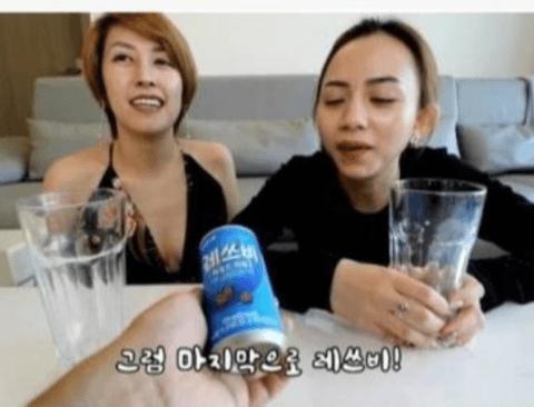 레쓰비를 처음 마셔본 베트남 처자들의 반응.jpg