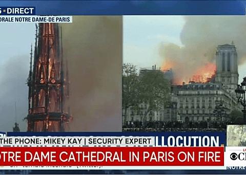 화마에 휩싸인 파리 노트르담 대성당 대형화재