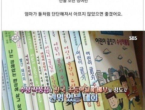 [스압] 8000:1 경쟁률을 뚫고 글짓기 대회 대상을 받은 어린이