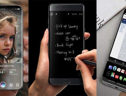 '아이폰8, 노트8, V30'곧 출시될 '스마트폰 3대장' 비교분석
