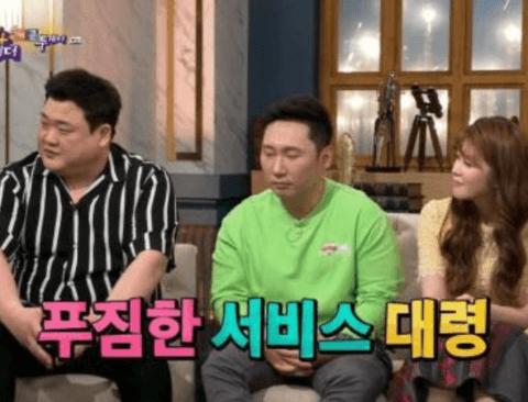 [스압] 푸짐한 서비스가 부담이 된다는 프로먹방러 김준현