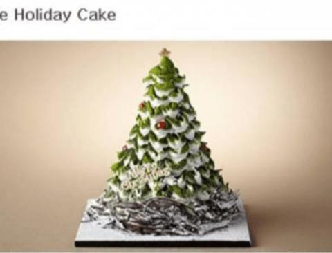 신라호텔에서 출시한 한정판 크리스마스 케이크