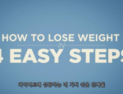 다이어트에 성공하는 쉬운 4가지 단계(스압주의)