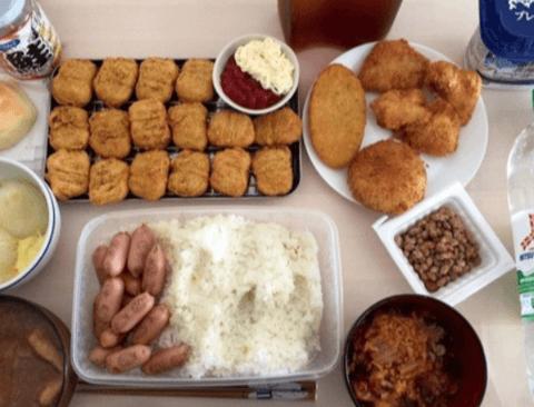 일본식 대식가의 흔한 한끼 분량