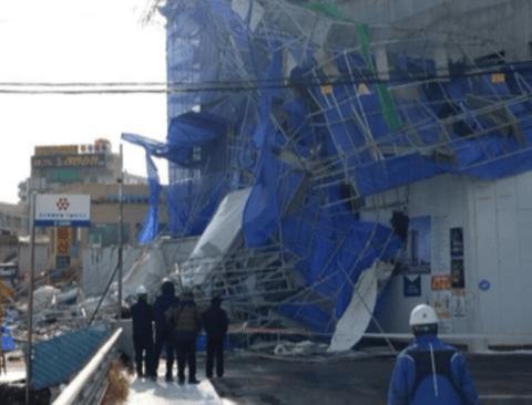 용인 호텔 신축공사장서 철제 펜스 무너져 1명 부상