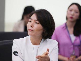 """'국회폭력' 항의 정의당...전희경 """"어딜 와서 정의로운 척"""""""