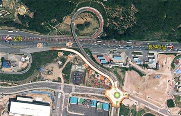 성산구, 창원터널 우회도로 임시 개통(안전건설과)-위치도.jpg