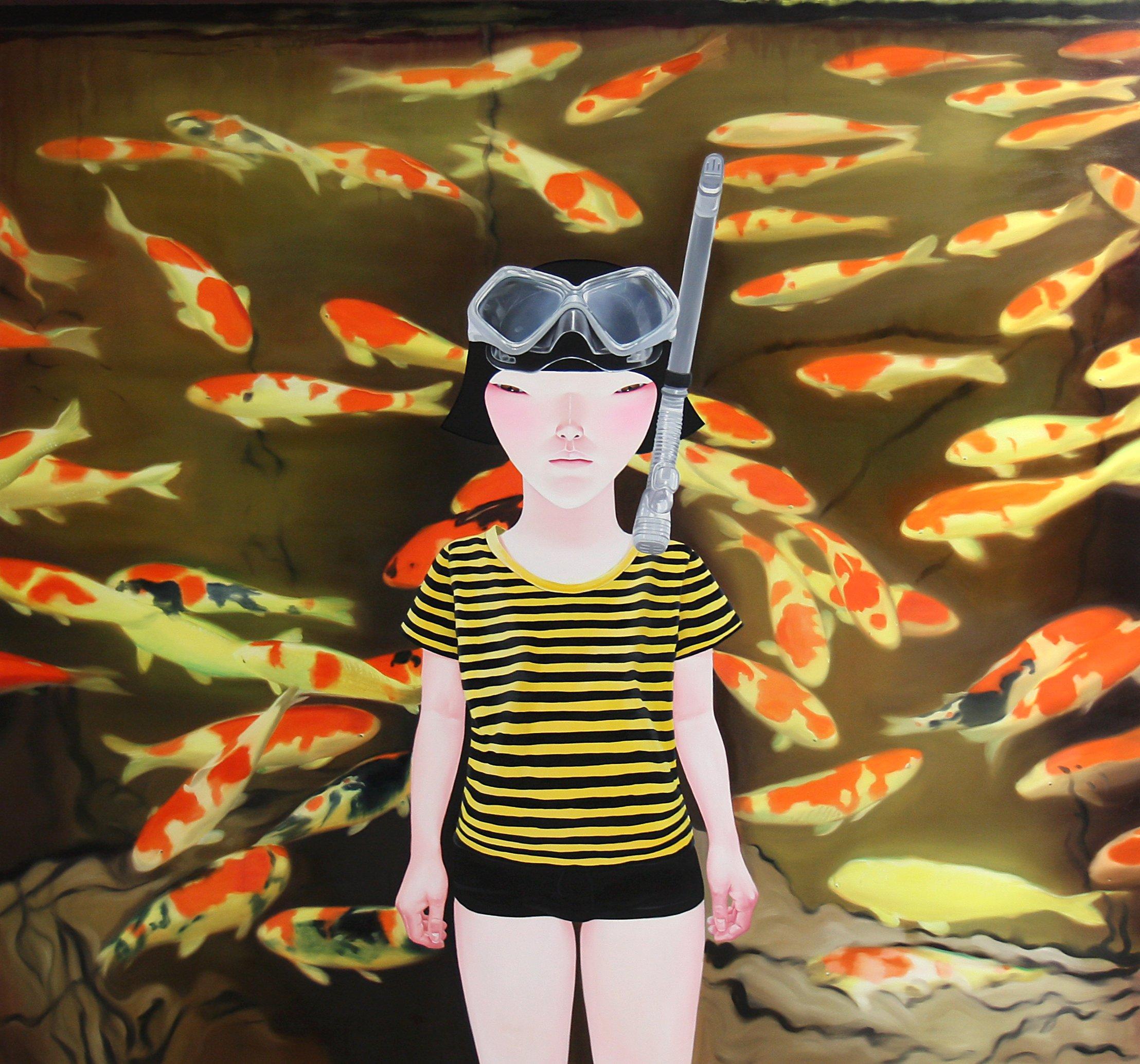 _뗡뀿_됣뀳_뗡뀱__ _뗡뀿_솽꼱__Carp, Oil on canvas, 170x180cm, 2013.JPG